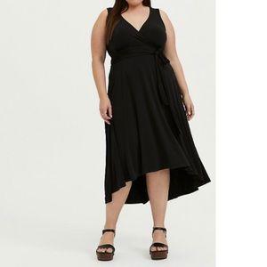 🆕Torrid Black Knit Tie Front Hi-Lo Dress 2X 18 20